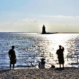 Breakwater East End Beach Scene by Kim Bemis