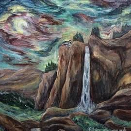 Bridal Veil Falls Colorado side view by Cheryl Pettigrew