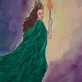 Brighid on Imbolc by Jennie Hallbrown