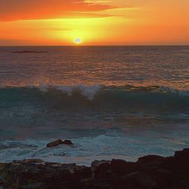 Bright Orange Sunset by Pamela Walton
