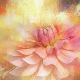 Brightly Textured Dahlia by Terry Davis