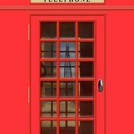 British Red Phone Box With The Shard by John Edwards