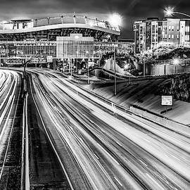 Broncos Stadium At Mile High - Downtown Denver Monochrome by Gregory Ballos