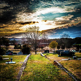 Brooding Sky Over Cemetery by James L Bartlett