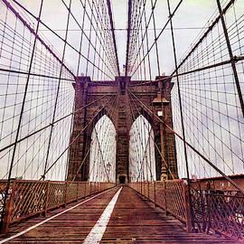 Brooklyn Bridge Grunge by Kay Brewer