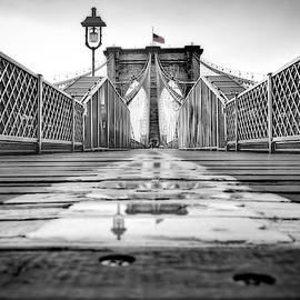Brooklyn Bridge NYC  BW by Susan Candelario