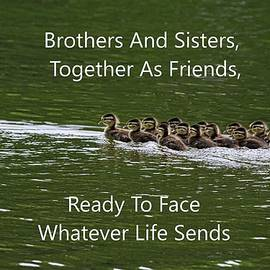 Brothers And Sisters Together As Friends by Lisa Wooten