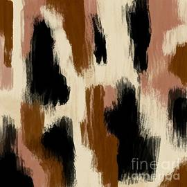 Brown Black and Tan Digital Drag Abstract Painting by Delynn Addams