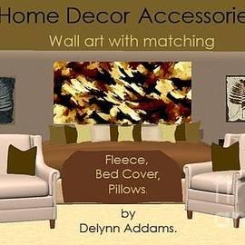 Delynn Addams - Brown Tan Abstract Wall Art by Delynn Addams for Home Decor