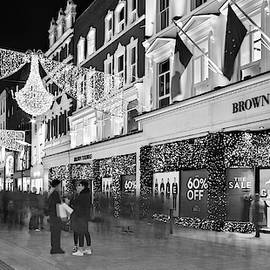 Brown Thomas On Grafton Street At Night - Dublin by Barry O Carroll