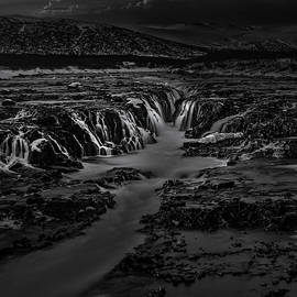 Bruarfoss in Black and White by Kyle Barden