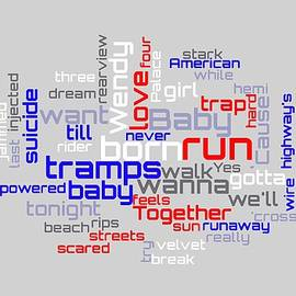 Bruce Springsteen - Born To Run Lyrical Cloud by Susan Maxwell Schmidt