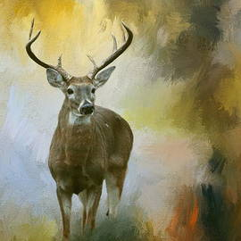 Buck In The Forest by Myrna Bradshaw