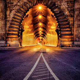 Buda Castle Tunnel by Russ Dixon
