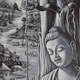 Buddha And The Village by Asp Arts