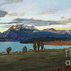 Buffalo, Red Mountain and Lake Dillon by Escudra Art