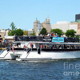 Buffalo River History Tour Harbor Queen Boat by Rose Santuci-Sofranko