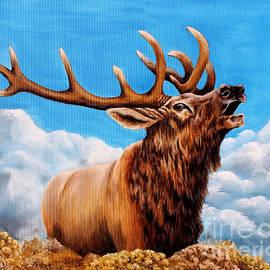 Bugling bull Elk by Pechez Sepehri