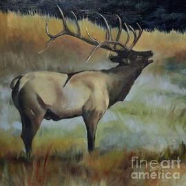 Bugling Elk by Jan Dappen
