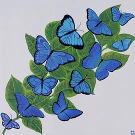 Butterfly Gathering by Marilyn Hilliard