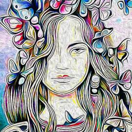 Butterfly girl by Nenad Vasic