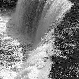 BW Raging Waterfall II by Mary Anne Delgado