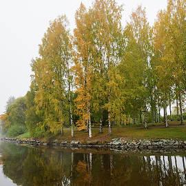 By the October lake by Jouko Lehto