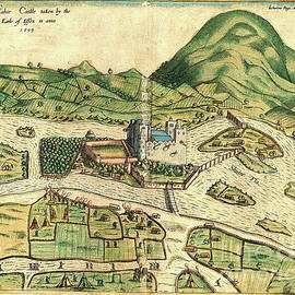 Cahir Castle 1599, Tipperary by Val Byrne