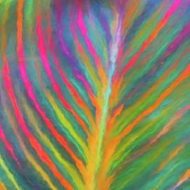 Tropicanna Leaf Under Glass by Claudia O'Brien