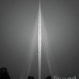 Calatrava Harp Bridge, Netherlands - BW by Henk Meijer Photography
