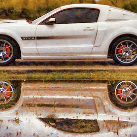 California Special Reflections - Mustang Gt/cs - Painting by Jason Politte