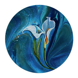 Calla Lily On White by Darice Machel McGuire