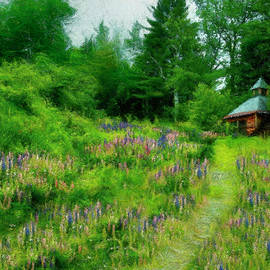 Camp In The Lupine by Wayne King