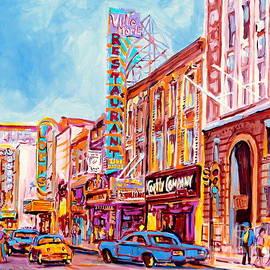 Canadian Art Montreal Scenes Downtown St Catherine Vintage Stores And Restaurants C Spandau Artist by Carole Spandau