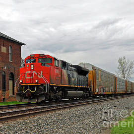 Canadian National Freight Train, McCordsville, Indiana by Steve Gass