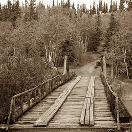 Canyon Creek Bridge In Sepia by Robert Bales