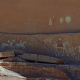 Canyon de Chelly Wall Petroglyphs by Debby Pueschel