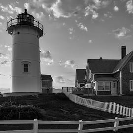 Cape Cod Black And White Photography Of Nobska Light by Juergen Roth