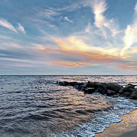 Cape Cod Flash Sunset by Lyuba Filatova