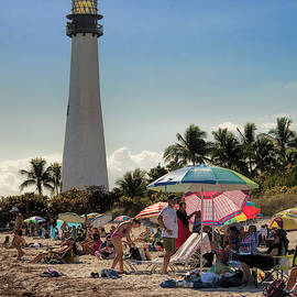 Cape Florida Lighthouse and Beach by Phyllis Taylor
