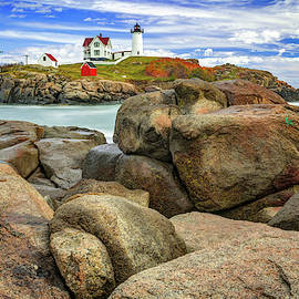 Cape Neddick Nubble Lighthouse - York Maine by Gregory Ballos