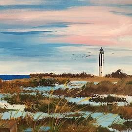 Cape Romain Lighthouse by Inez Ellen Titchenal