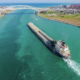 Capt. Henry Jackman on the Saint Clair River by Gales Of November