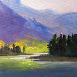 Cascade Light Landscape by Nancy Merkle