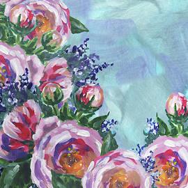 Cascade Of Pink Flowers Impressionism  by Irina Sztukowski