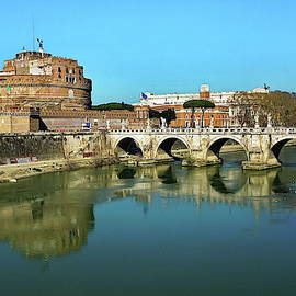 Castel Sant Angelo and Bridge of Angels by Lyuba Filatova