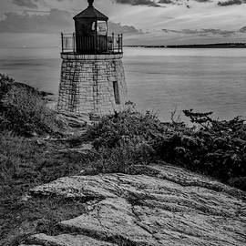Castle Hill Light BW by Susan Candelario