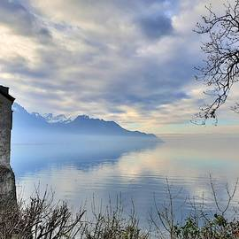 Castle on Lake Geneva by Andrea Whitaker
