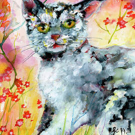 Cat Portrait My Name Is Hobo by Ginette Callaway