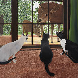 Cats And Deer by Karen Zuk Rosenblatt